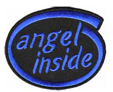 Iron On/ Sew On Embroidered Patch Badge Angel Inside