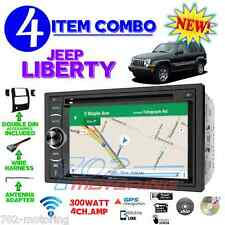 02 03 04 05 06 07 JEEP LIBERTY NAVIGATION DVD RADIO STEREO DASH KIT DOUBLE DIN