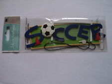 EK SUCCESS JOLEE'S TITLE WAVES SOCCER BLUE WRITING DIMENSIONAL STICKERS BNIP