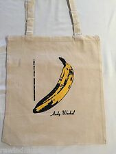 ANDY WARHOL THE VELVET UNDERGROUND   COTTON TOTE BAG