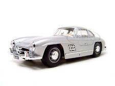 1954 MERCEDES 300 SL GULLWING SILVER 1:18 DIECAST MODEL CAR BY BBURAGO 12047