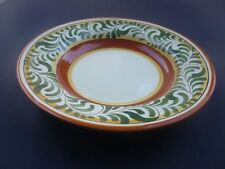 PIER 1 ONE UMBRINA HANDPAINTED EARTHENWARE TUSCAN RIMMED SOUP BOWL ITALY