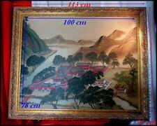 """Peinture Chinoise """"Vue du Palais d'été de l'Empereur de Chine"""" détruit en 1860"""