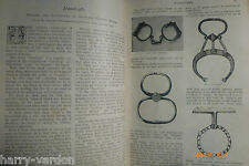 Handcuffs Police Nippers Snap Corde Menotte Poucette Rare Victorian Article 1894
