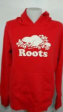 Roots Canada Vintage Hoodie Sweatshirt Red size Medium Camping Clamping