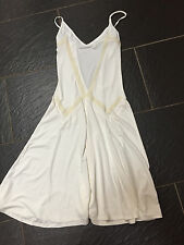 TOPSHOP CREAM BEADED SUMMER LOW BACK DRESS SIZE 10
