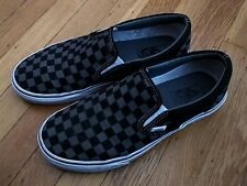 VANS CHECKERED OLD SKOOL SLIP-ON SKATE SHOES 8.5 CHECKED SKATER CHECK SNEAKERS