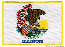 ILLINOIS STATE FLAG PATCH EMBROIDERED IRON-ON new APPLIQUE EMBLEM IL