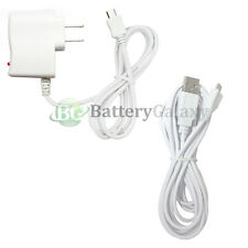 White USB 10FT Cord+Wall Charger for Samsung Galaxy S 3 4 S3 S4 Mini Note 2 3 4