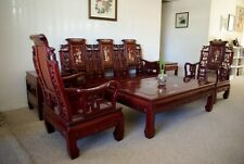 Superb Chinese Rosewood Living Room Furniture With Pearl Shell Inlay 6 pcs Set