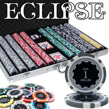 NEW 1000 PC Eclipse 14 Gram Clay Poker Chips Case Set Pick Your Denominations