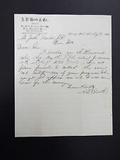 A.D. Booth & Co. Dry Goods, Groceries and Shoes Letterhead Letter 1886