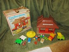 Fisher Price Little People McDonalds Playskool Familar places building lot set