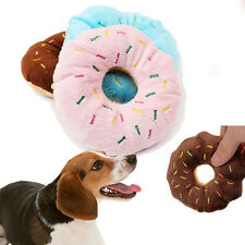 11CM Lovely Pet Dog Puppy Cat Squeaker Quack Sound Toy Chew Donut Play Toys Hot