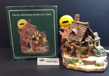 VINTAGE Ceramic Lighted HALLOWEEN HAUNTED HOUSE -Witch, Ghost  Lamp Hand Painted