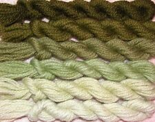 New Paternayan Wool 3ply Persian Yarn Needlepoint Crewel 650 Olive Green Family