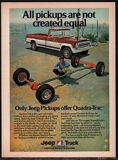 1974 JEEP Red & White Pickup Truck w/ Quadra-Trac AD