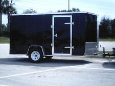 New 6x12 Enclosed Trailer Cargo V-Nose Utility Motorcycle Lawn 10 Landcape