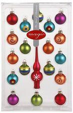 Christbaumkugeln 3cm GLAS Baum Spitze Mini Kugeln Weihnachtskugeln SET bunt