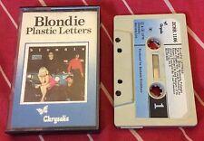 Blondie Plastic Letters (Cassette Tape) Paper Label (Debbie Harry)