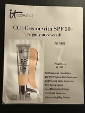 It Cosmetics CC+ Cream Medium Sample FREE SHIP