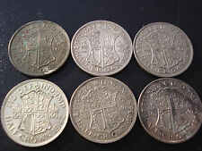Great Britain UK 1928 1929 1931 1933 1936 1942 Half Crown Silver Coin Bulk AB2