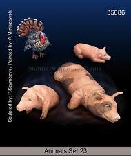 Mantis Miniatures 1/35 Animals Set Vol.23 - Pigs and Turkey