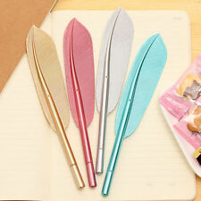 2PC NEW Novelty feather Ball Point Ballpoint Pen Office Stationery US