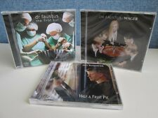 3 x CD SET BENJI KIRKPATRICK & FAUSTUS- The First Cut/Wager/Half A Fruit Pie CDs