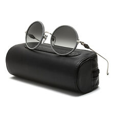 Chrome Hearts Ovaryeasy Sunglasses Antique Silver Argent Remy Leather Grey Lens