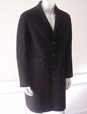 $2895 New NAIL BARRETT Black Coat 40 made in Italy