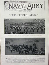 1897 ILLUSTRATED ARTICLE ~ CITIZEN ARMY PART 1 ~ FIELD BATTERY ARTILLERY COMPANY