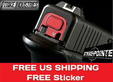 Strike Industries Tool Less Detachable Glock Slide End Plate Push Button V1 Red