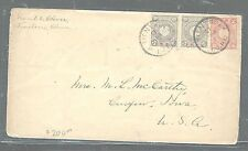 CHINA JAPAN OFFICES IN (PP2105B) 1900 5 RX2+4S FROM TIENSTIN VIA NAGASAKI TO USA