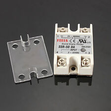 Solid State Relay SSR-50DA 3-32VDC 50A/250V Output 24-380VAC With Cover