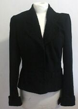 Vintage 40s Style Womens Black Jacket Size 10-12 uk Fitted PIMKIE WWII Blitz