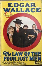 EDGAR WALLACE THE LAW OF THE JUST MEN HODDER STOUGHTON LONDON