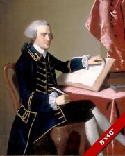 GOV. JOHN HANCOCK US FOUNDING FATHER PORTRAIT PAINTING ART REAL CANVAS PRINT