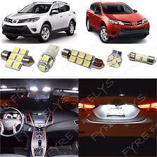 8x White LED lights interior package kit for 2013-2014 Toyota RAV4 TR3W