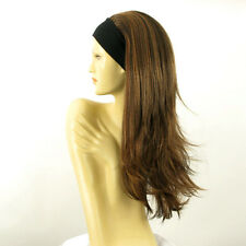 headband wig woman long chocolate copper wick clear ref: BENEDICTE 627c