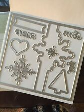 "Sizzix ""Big Shot SNOWFLAKE CARD THINLETS"" NEW Stampin'UP! NIP set/9 dies"