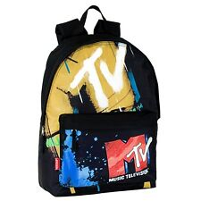 MTV Large Backpack Rucksack Boys Girls Trendy Retro School Bag Music Television