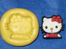 Hello Kitty Push Mold Food Safe Silicone #791 Cake Chocolate Resin Polymer Clay
