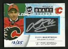 2012-13 Upper Deck The Cup SVEN BAERTSCHI Draft Boards Autograph Serial #18 / 25