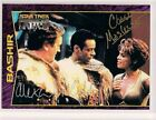 Star Trek Signed Card DUAL Auto DS9 Profiles Alex Siddig Chase Masterson v61