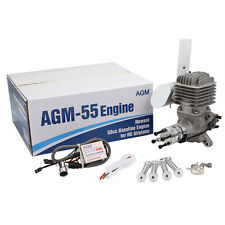 AGM55 55cc Gas Petrol Engine + CDI Ignition & muffler for RC Plane VS DLE55