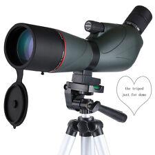 15-45x60 Angled Spotting Scope Waterproof Zoom Monocular Telescope w/Tripod Best