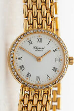 Vintage $15,000 1ct VS F Diamond CHOPARD 18k Yellow Gold Ladies Watch 44g