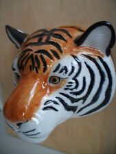 Fabulous Large Tiger Wall Vase/ Plant Pot By Quail Ceramics Boxed Ideal Gift
