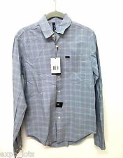 NWT RVCA Men's Plaid Button Down Shirt Size XS